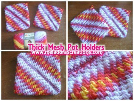 Crochet Potholder Pattern Luxury Meladoras Creations – Thick Mesh Pot Holder – Free Crochet Of Amazing 43 Pictures Crochet Potholder Pattern