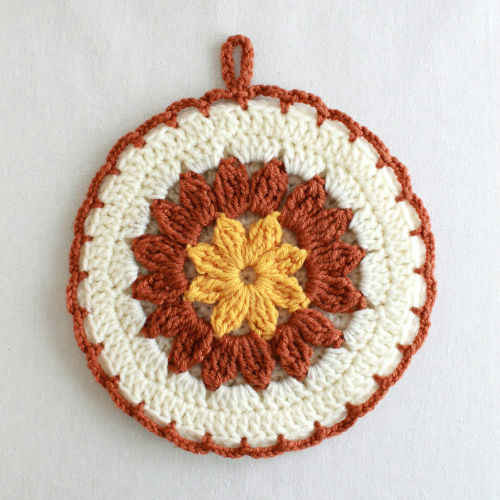 Free Crochet Pattern Strawflower Potholder 38