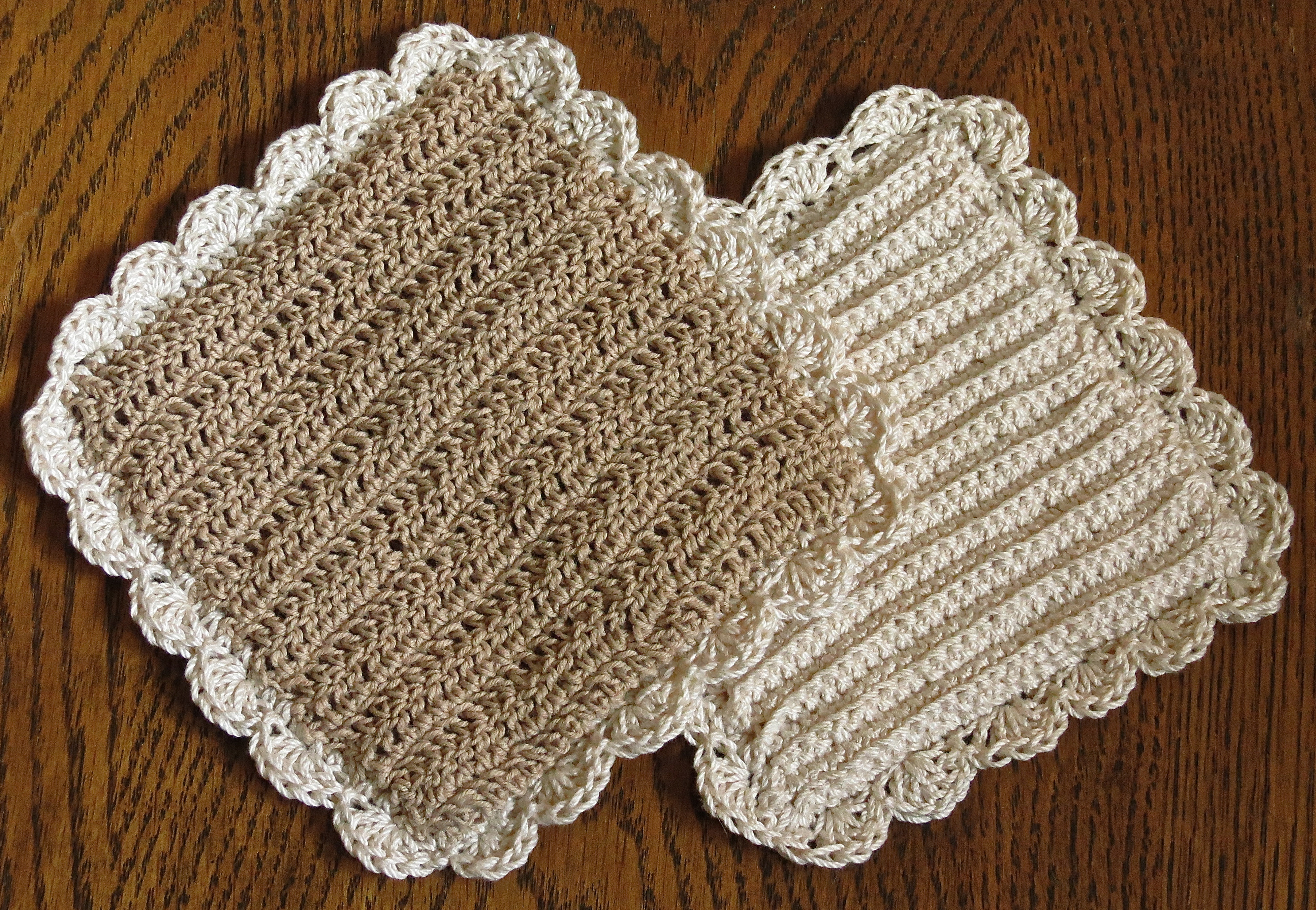 old fashioned crocheted potholder pattern