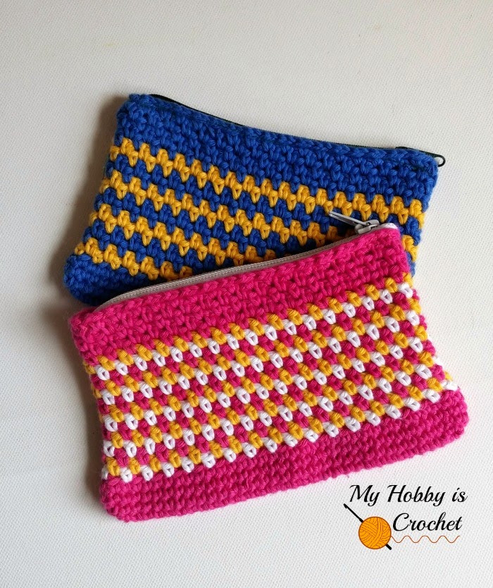 Crochet Pouch Fresh My Hobby is Crochet Woven Stitch Zipper Pouch Of Awesome 48 Pics Crochet Pouch
