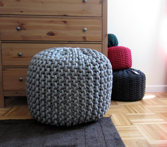 Giant Knit Rope Pouf Pattern by Mary Marie Knits Modern