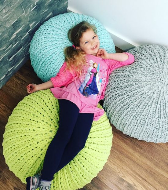 Crochet Pouf Pattern Inspirational Crochet Floor Pouf and Ottoman Free Patterns Of Incredible 46 Pictures Crochet Pouf Pattern
