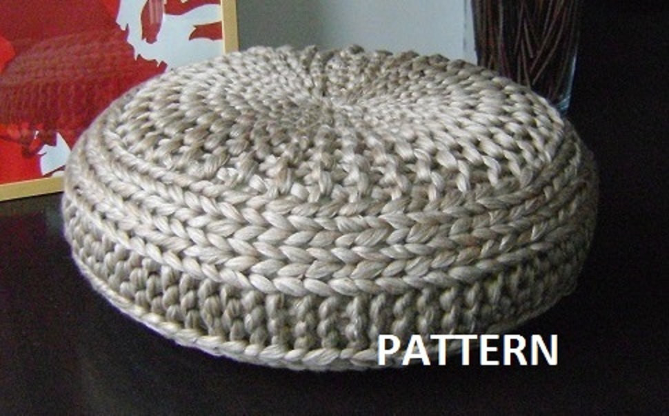 Crochet Pouf Pattern Luxury Knitted Extra Pouf Pattern Poof Knitting by iswoolish Of Incredible 46 Pictures Crochet Pouf Pattern