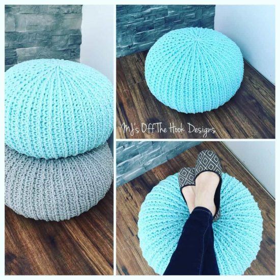 Crochet Pouf Pattern New Crochet Floor Pouf and Ottoman Free Patterns Of Incredible 46 Pictures Crochet Pouf Pattern