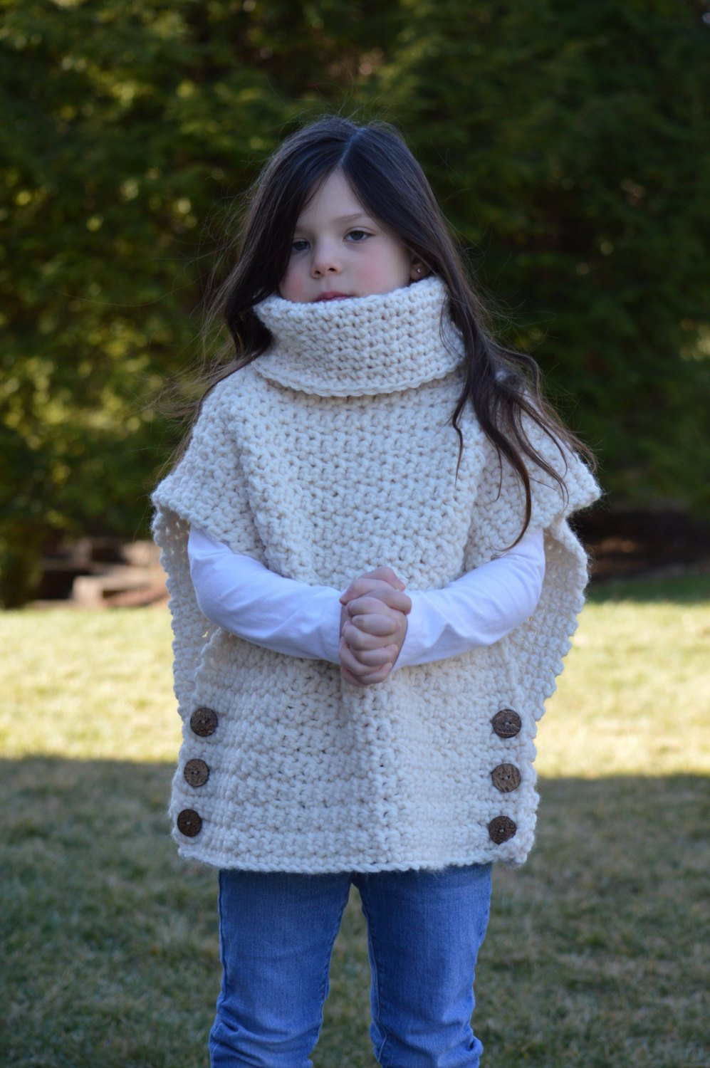 Crochet Pullover Sweater Lovely Crochet Pullover Sweater with Cowl Neck and button Closure Of Delightful 48 Pics Crochet Pullover Sweater