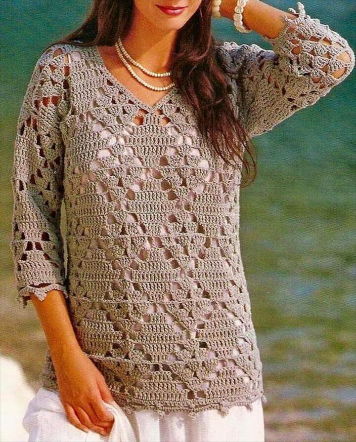 Crochet Pullover Sweater Pattern New 20 Awesome Crochet Sweaters for Women S Of Beautiful 43 Ideas Crochet Pullover Sweater Pattern