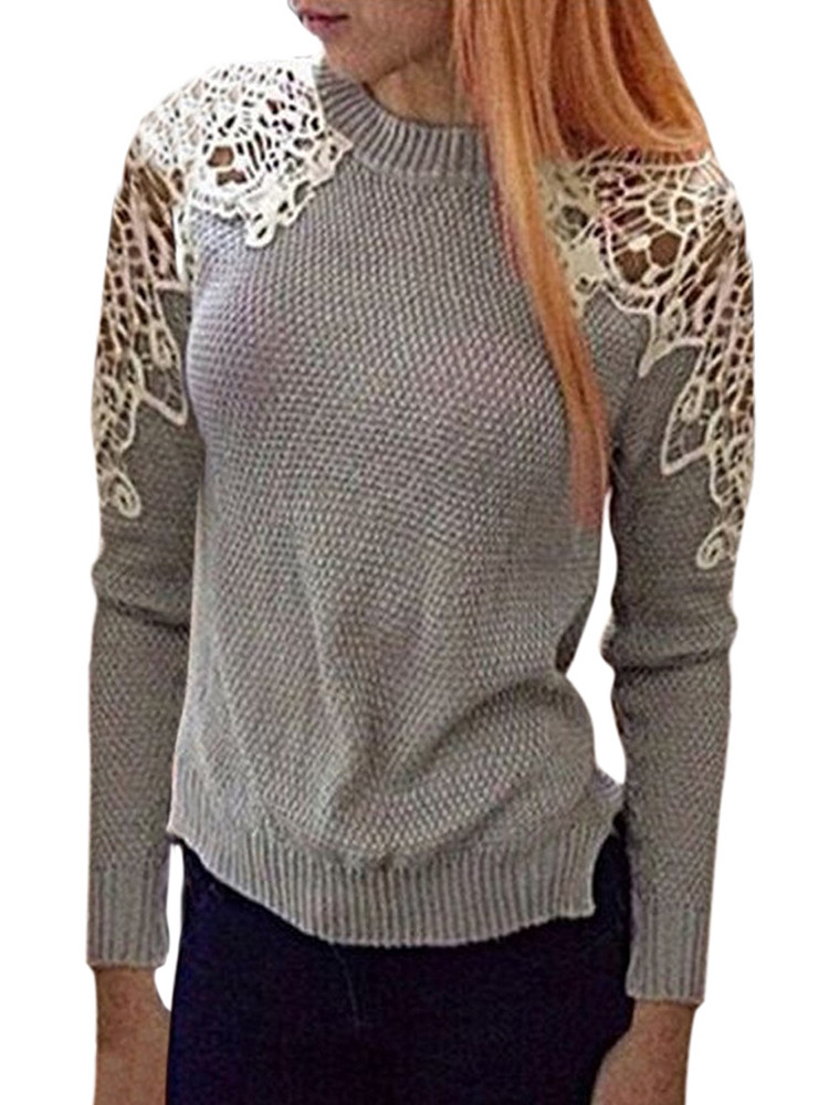 Crochet Pullover Sweater Unique Casual Women Crochet Hollow Out Patchwork Irregular Of Delightful 48 Pics Crochet Pullover Sweater