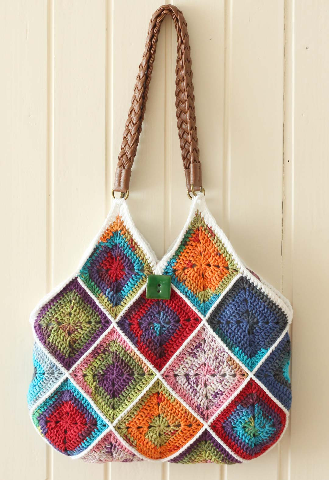 Crochet Purse Beautiful Free Pattern Squares Bag A Creative Being Of Top 48 Images Crochet Purse