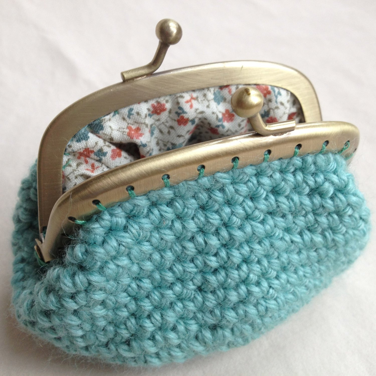 Crochet Purse Pattern Awesome Sea Green Crochet Coin Purse Of Adorable 44 Photos Crochet Purse Pattern