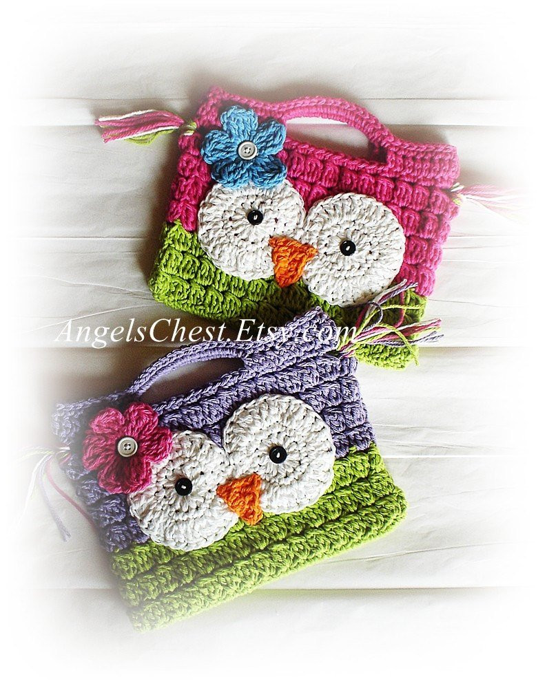 Crochet Purse Pattern Beautiful Pdf Pattern Cute Hand Crochet Owl Purse Handbag Boutique Of Adorable 44 Photos Crochet Purse Pattern