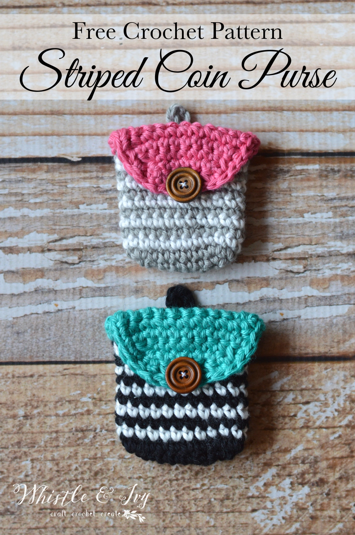 Crochet Purse Patterns Inspirational Crochet Striped Coin Purse Whistle and Ivy Of Attractive 46 Photos Crochet Purse Patterns