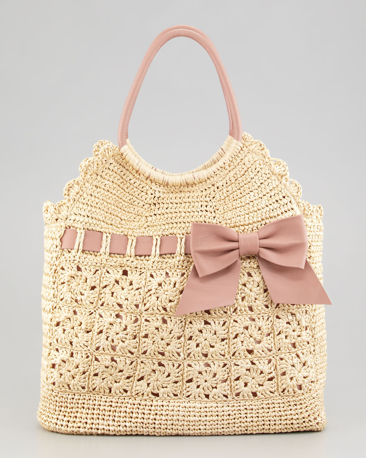 Crochet Purses Inspirational Red Valentino Leather and Crochet Raffia tote Bag In Of Luxury 41 Pictures Crochet Purses