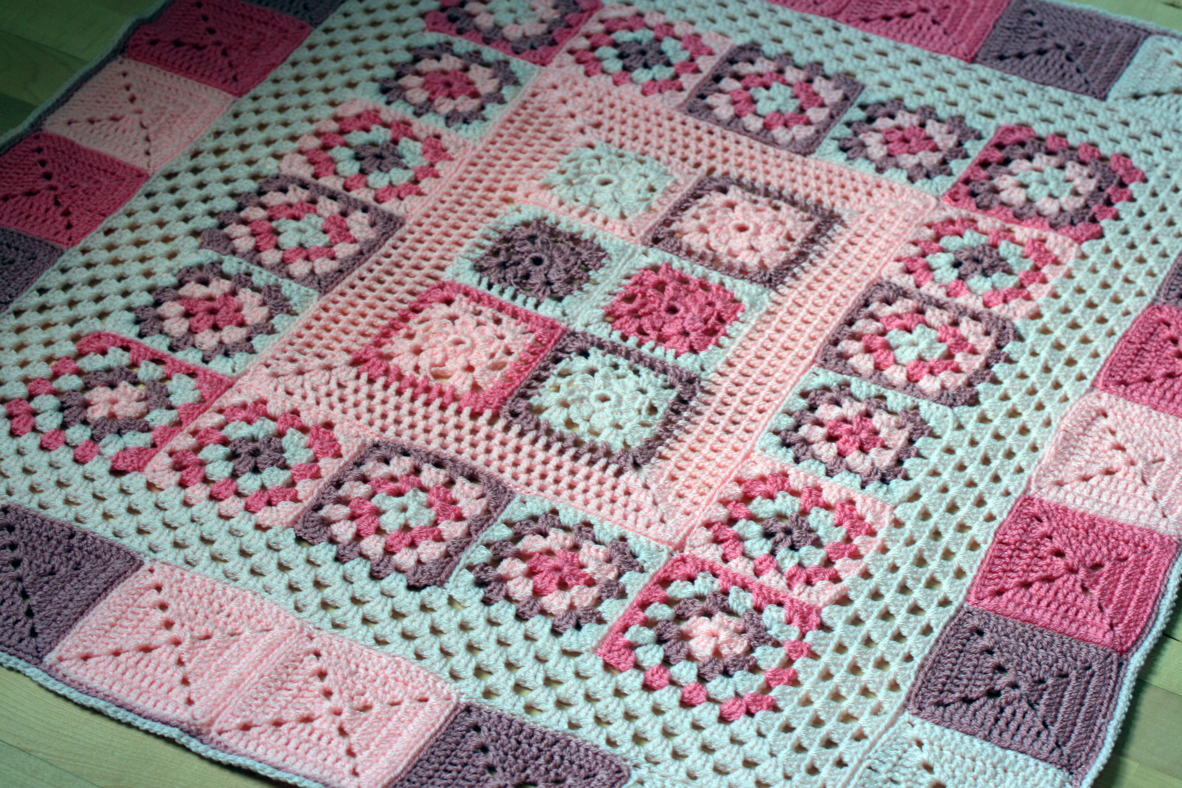 Crochet Quilts Awesome Crochet Baby Blanket Pretty In Pink Of Unique 45 Pics Crochet Quilts