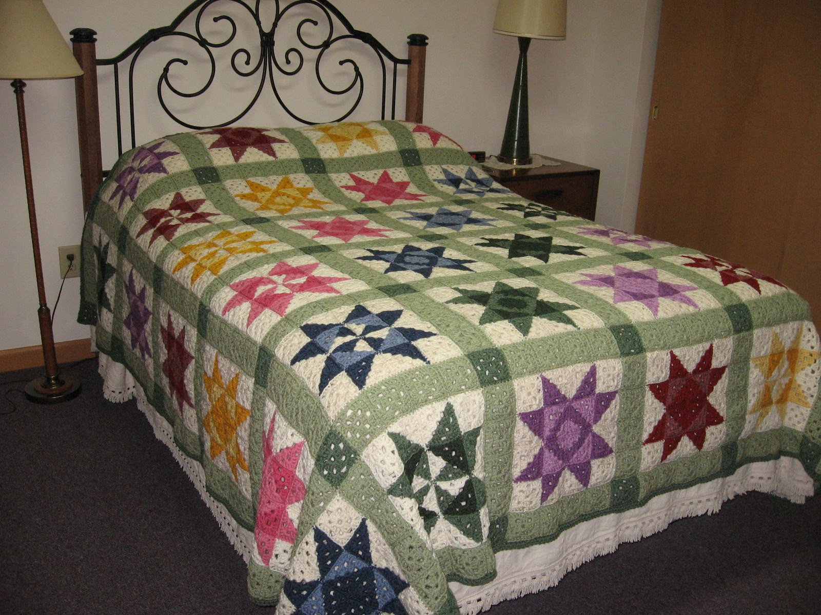Crochet Quilts Elegant Star Motif Granny Square Bedspread ⋆ Crochet Kingdom Of Unique 45 Pics Crochet Quilts