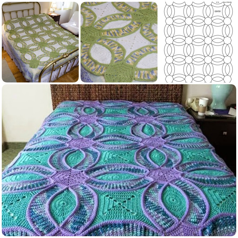 Crochet Quilts Lovely How to Crochet Wedding Ring Quilt Of Unique 45 Pics Crochet Quilts