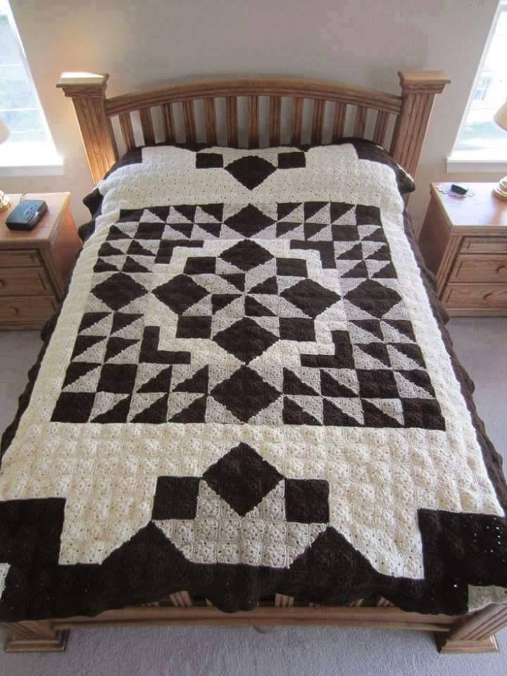 Crochet Quilts New Casablanca Crochet Quilt Free Pattern Of Unique 45 Pics Crochet Quilts