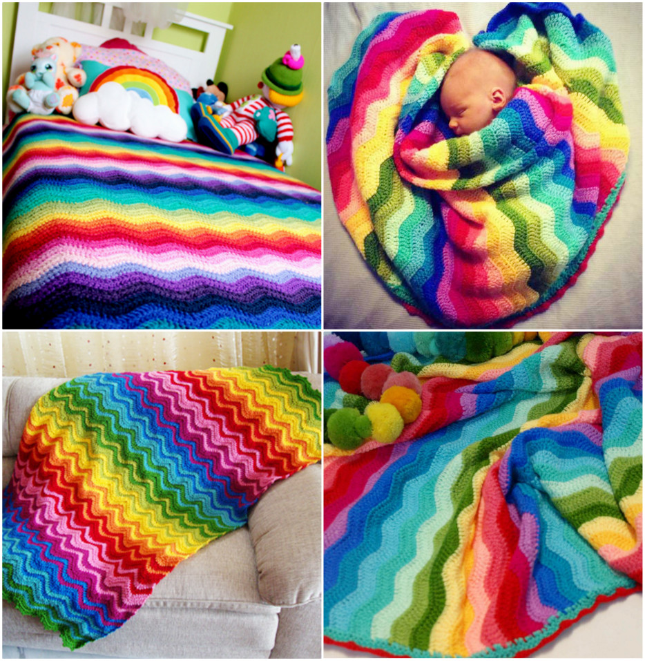 Crochet Rainbow Baby Blanket Awesome Crochet Bobble Stitch Rainbow Blanket Free Pattern Of Gorgeous 44 Images Crochet Rainbow Baby Blanket