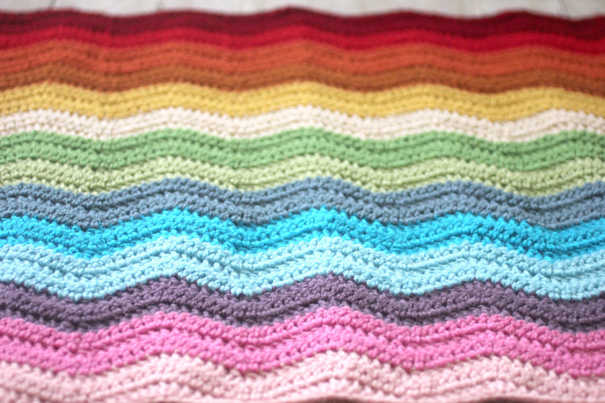 Crochet Rainbow Baby Blanket Beautiful Rainbow Ripple Crochet Blanket Repeat Crafter Me Of Gorgeous 44 Images Crochet Rainbow Baby Blanket