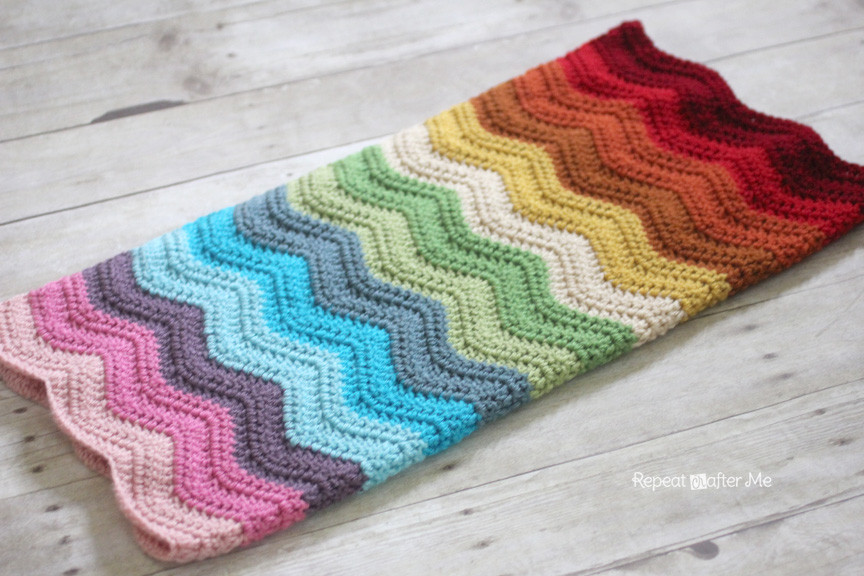 Crochet Rainbow Baby Blanket Lovely Rainbow Ripple Crochet Blanket Repeat Crafter Me Of Gorgeous 44 Images Crochet Rainbow Baby Blanket
