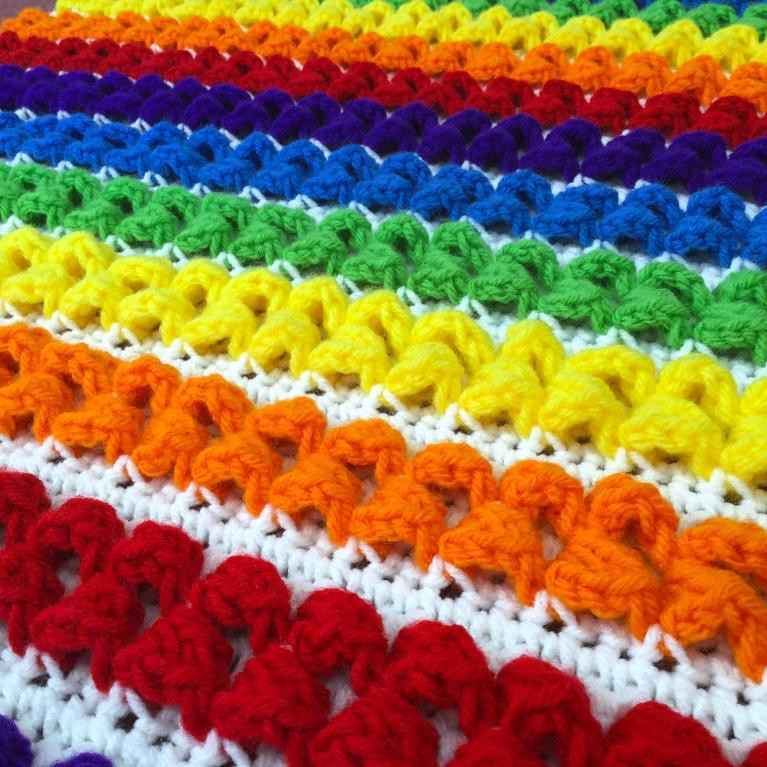 Crochet Rainbow Baby Blanket Unique 10 Rainbow Crochet Patterns to Show Your True Colors Of Gorgeous 44 Images Crochet Rainbow Baby Blanket
