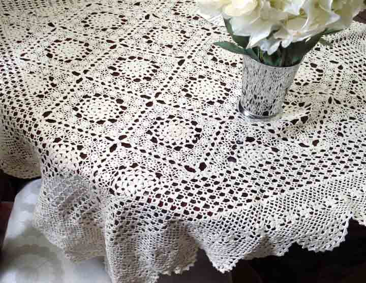 Pattern For Crochet Tablecloth Design Patterns