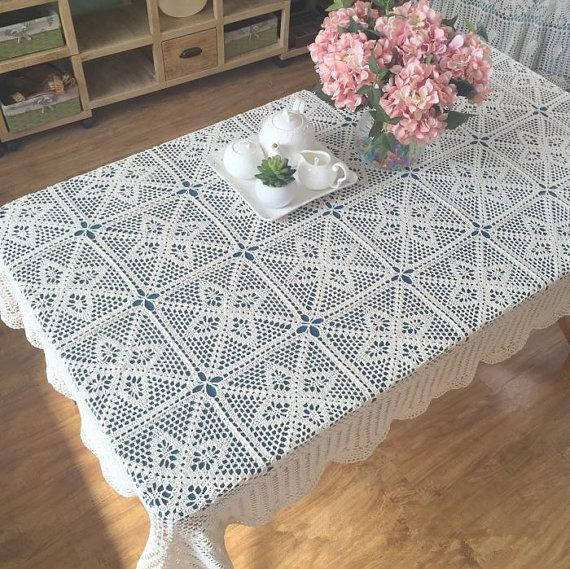 Crochet Rectangle Tablecloth Patterns Beautiful New Crochet Design American Country Living Vintage Style Of Beautiful 41 Ideas Crochet Rectangle Tablecloth Patterns