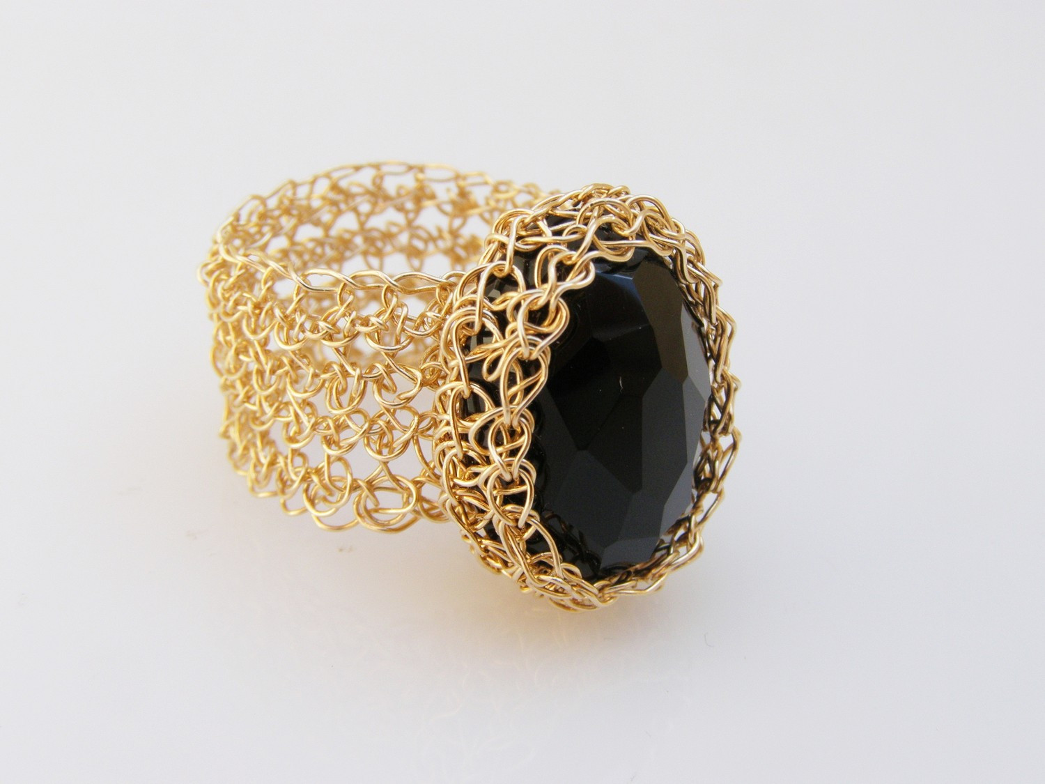 Crochet Ring yx Ring Crochet Gold Filled Wire Wire By