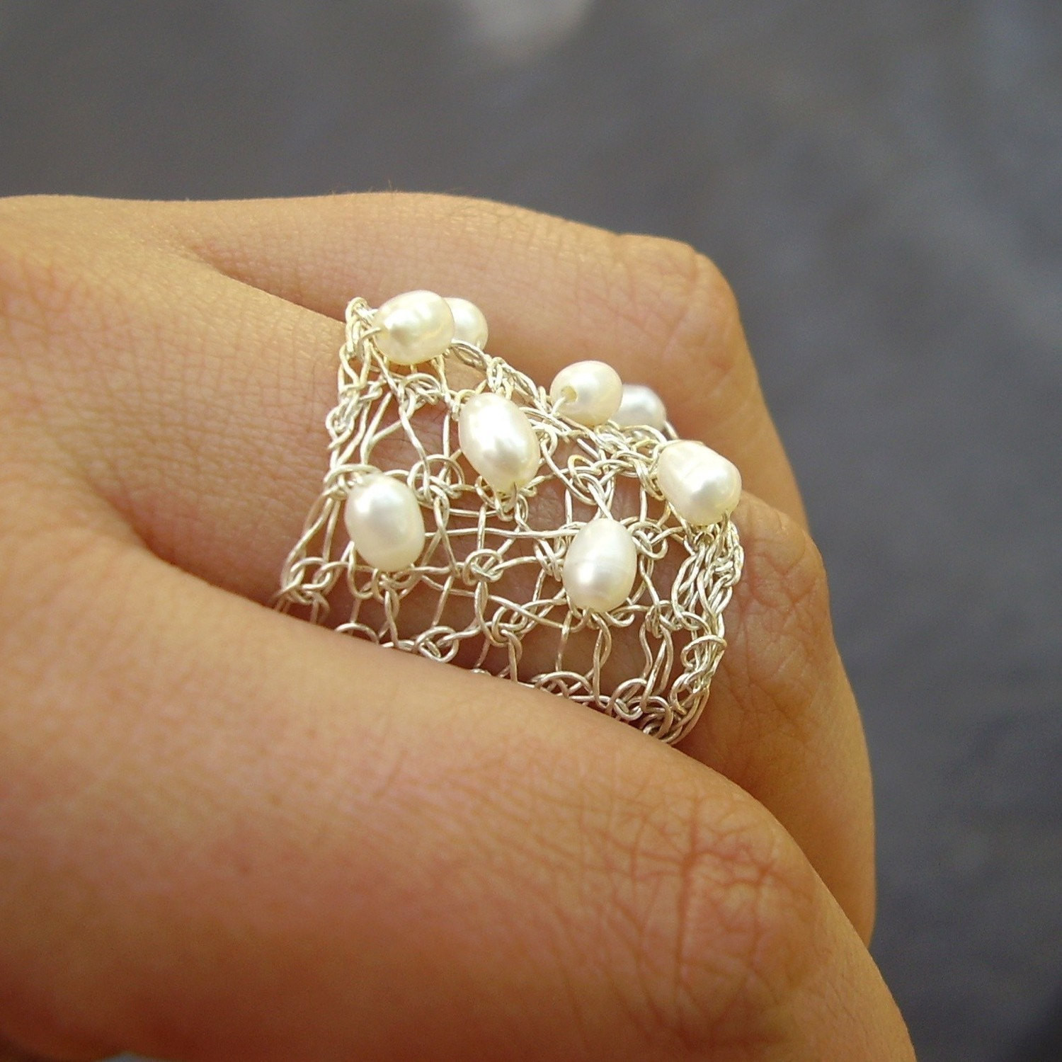 Crochet Rings Unique Spread Ring Crochet Sterling Silver Wire and Pearls Of Unique 40 Pics Crochet Rings