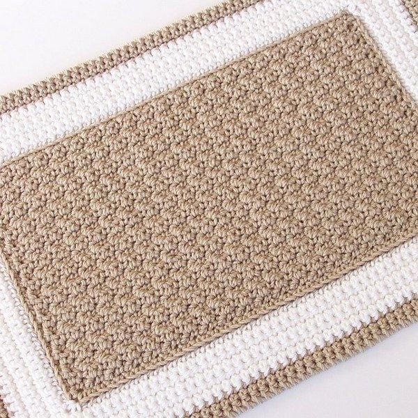 Crochet Rope Rug Beautiful Crochet Rectangle Rug – Idk What This One is Made Out Of Of Luxury 46 Models Crochet Rope Rug