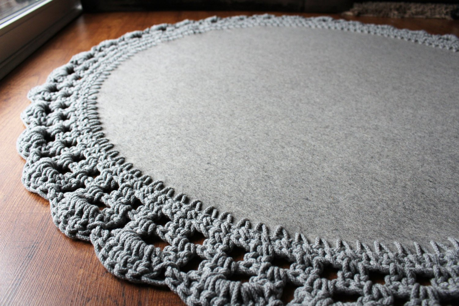 Crochet Rope Rug Lovely Round Wool Rug with Crocheted Cotton Rope Edge Of Luxury 46 Models Crochet Rope Rug