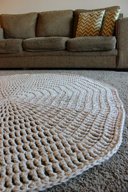 Crochet Rope Rug New 1000 Images About Crocheted Rug Patterns On Pinterest Of Luxury 46 Models Crochet Rope Rug