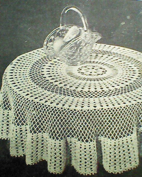 Crochet Round Tablecloth Awesome Vintage Crocheted Round Tablecloth Pattern by Mamaspatterns Of Beautiful 41 Pictures Crochet Round Tablecloth