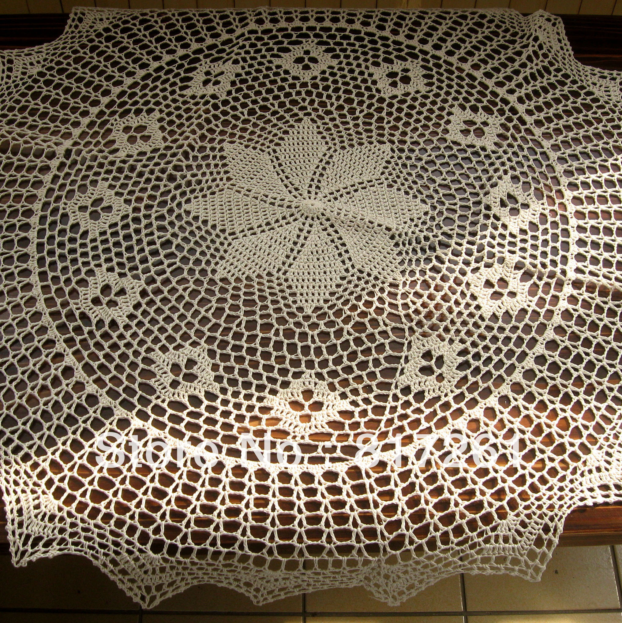 Crochet Round Tablecloth Beautiful Free Shipping Cotton Crochet Beige 90cm Round Table Cloth Of Beautiful 41 Pictures Crochet Round Tablecloth