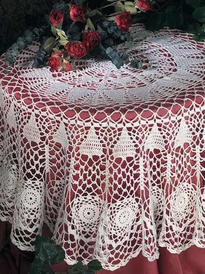 Crochet Round Tablecloth Beautiful From the Archives – Christmas In July – Crochet Christmas Of Beautiful 41 Pictures Crochet Round Tablecloth