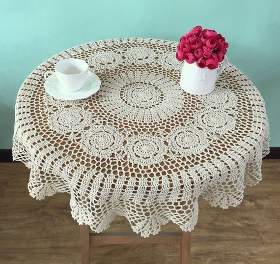 Crochet Round Tablecloth Beautiful Lovely Crochet Pattern Round Tablecloths Handmade Crocheted Of Beautiful 41 Pictures Crochet Round Tablecloth