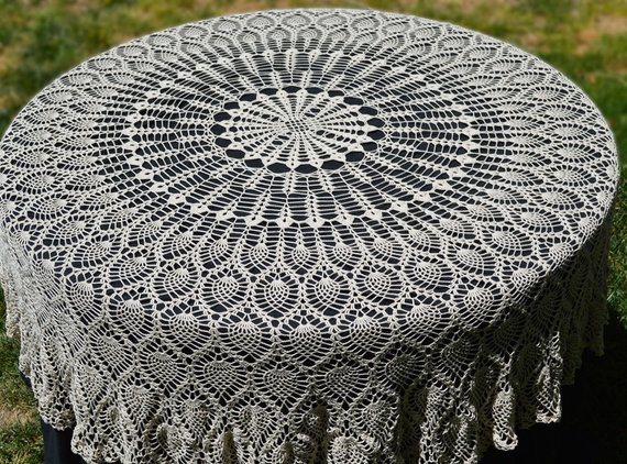 Crochet Round Tablecloth Best Of Round Crochet Tablecloth Vintage Style Crochet Pineapple Of Beautiful 41 Pictures Crochet Round Tablecloth
