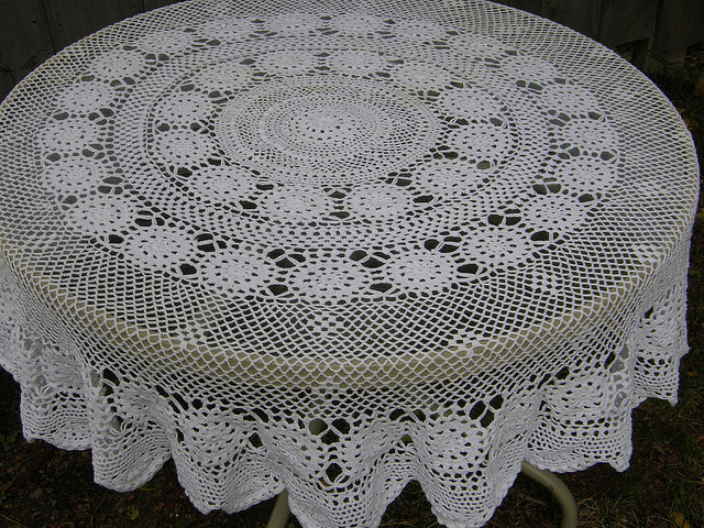 Crochet Round Tablecloth Inspirational Crocheted Round Tablecloth Of Beautiful 41 Pictures Crochet Round Tablecloth