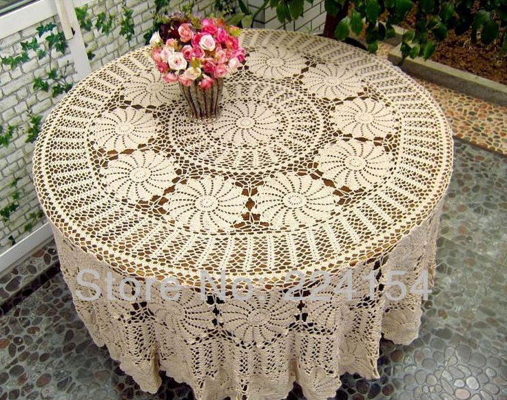Crochet Round Tablecloth Pattern Free Awesome 20 Best Images About Round Crochet Tablecloth On Pinterest Of Incredible 48 Pictures Crochet Round Tablecloth Pattern Free