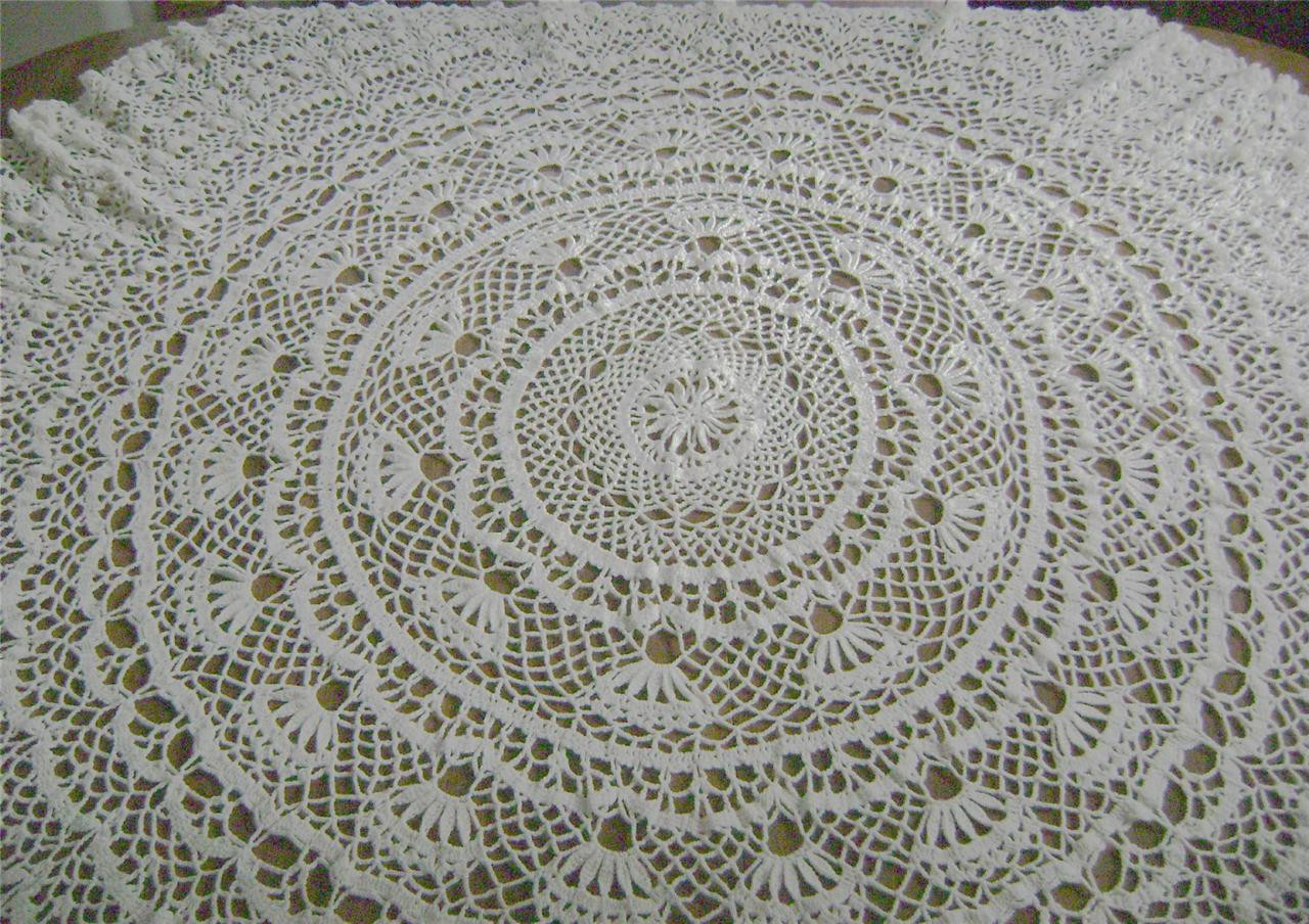 """Crochet Round Tablecloth Pattern Free Awesome Vintage Hand Crochet Tablecloth Round 60"""" Floral Pattern Of Incredible 48 Pictures Crochet Round Tablecloth Pattern Free"""