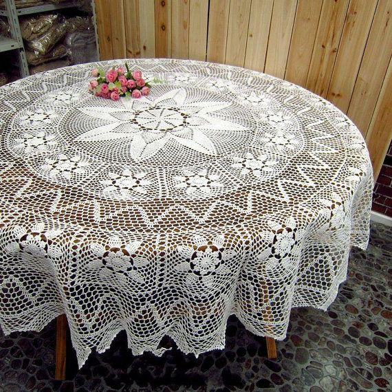Crochet Round Tablecloth Pattern Free Beautiful 9292 Best Images About Crochet Tablecloth On Pinterest Of Incredible 48 Pictures Crochet Round Tablecloth Pattern Free