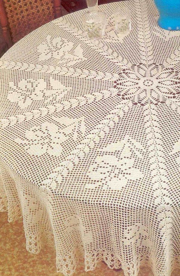 Crochet Round Tablecloth Pattern Free Elegant 667 Best Images About Crochet Tablecloths On Pinterest Of Incredible 48 Pictures Crochet Round Tablecloth Pattern Free