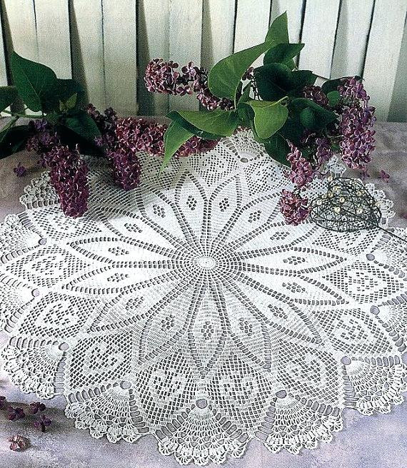 Crocheted Table Cloth Patterns Free Tablecloth Crochet