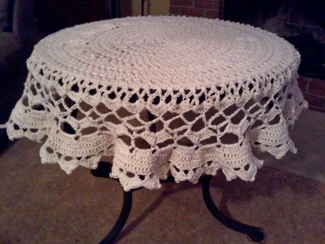 Crochet Round Tablecloth Pattern Free Lovely Mamie's Tablecloth – A Free Pattern Of Incredible 48 Pictures Crochet Round Tablecloth Pattern Free