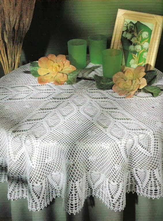 Crochet Round Tablecloth Pattern Free Luxury Round Tablecloth with Pineapples Free Crochet Patterns Of Incredible 48 Pictures Crochet Round Tablecloth Pattern Free