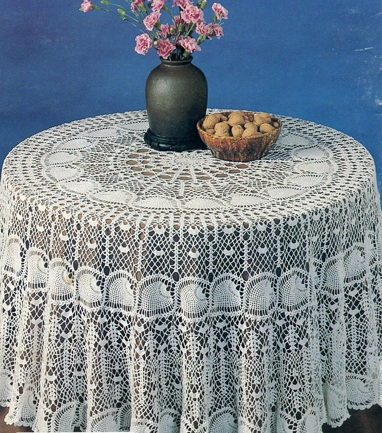 Round Crochet Tablecloth Patterns