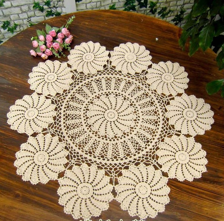 Crochet Round Tablecloths Elegant Vintage Handmade Crochet Tablecloth Doliy 90cm 36 Inch Of Unique 43 Pictures Crochet Round Tablecloths