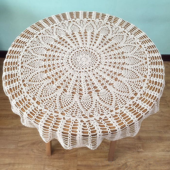 Crochet Round Tablecloths Inspirational Classic Pineapple Crochet Pattern Table Cover Popular Of Unique 43 Pictures Crochet Round Tablecloths