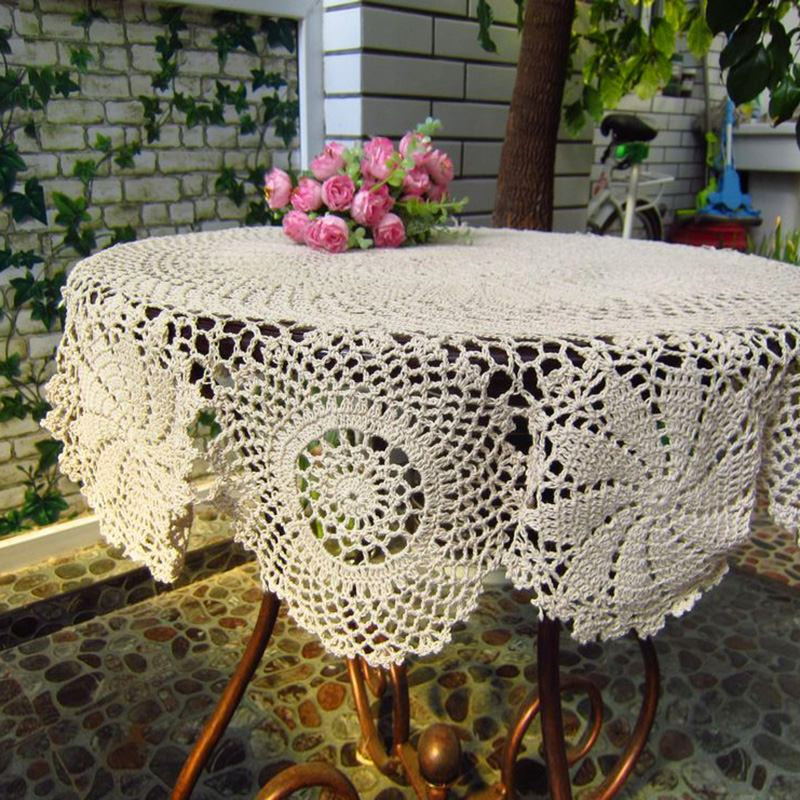 Crochet Round Tablecloths Lovely Home Beige Color Handmade Crochet Tablecloth Vintage Of Unique 43 Pictures Crochet Round Tablecloths