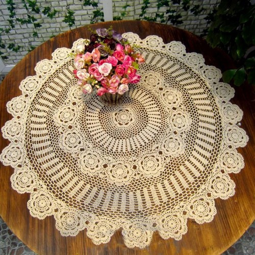 Crochet Round Tablecloths Luxury White Cotton Crochet Tablecloth Of Unique 43 Pictures Crochet Round Tablecloths