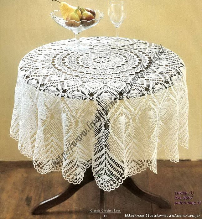 Crochet Round Tablecloths New 17 Best Images About Crochet Table Cloths On Pinterest Of Unique 43 Pictures Crochet Round Tablecloths